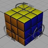 Rubik's cube 0.1.0 for Maya (maya script)