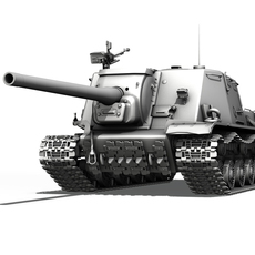 ISU-122 - Soviet heavy self-propelled gun  3D Model