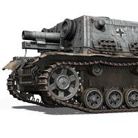 StuIG 33B - (Sturm-Infanteriegeschuetz 33B) 3D Model