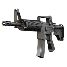 Colt M4 Commando - Assault rifle 3D Model