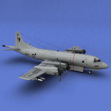 P-3C US Navy with High and Low scheme 3D Model