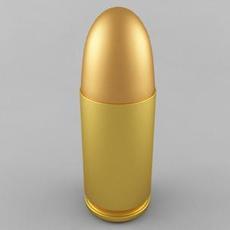 9x19 Parabellum Cartridge 3D Model