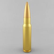 7.62x51 NATO Cartridge 3D Model