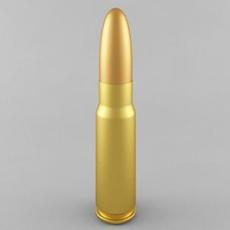 7.62x39 Cartridge 3D Model