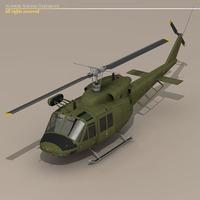 B 212 army 3D Model