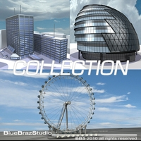 London building collection 3D Model