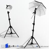 Light umbrella and lamp holder 3D Model