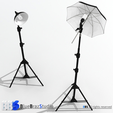 Light umbrella and lamp holder 3D Model