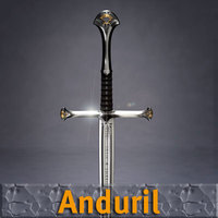 Anduril Sword 3D Model