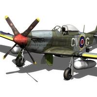 P-51D Mustang RAAF 3D Model