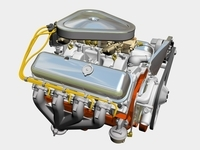 Chevrolet 427 V8 Engine 3D Model