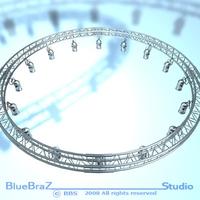 Round Truss with par 3D Model