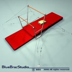 Uneven bars 3D Model