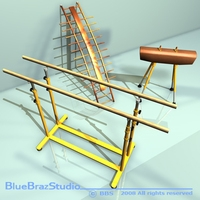 Gymnastic set 3D Model