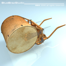 Leonardo mechanical drum 3D Model