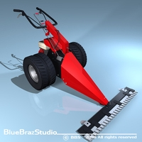 Power Mower 3D Model