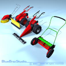 Mower Collection  3D Model