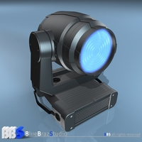 Moving Heads wash light 3D Model