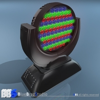 LED moving head 3D Model