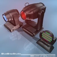 Moving heads collection 3D Model