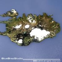 Iceland 3D Model