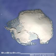 South pole 3D Model