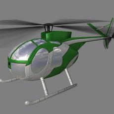 Hughes500 V4 3D Model
