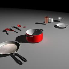 Kitchen Stuff 3D Model
