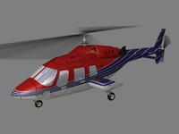 Bell 222 V5 3D Model