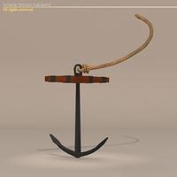 Sailing vessel anchor 3D Model