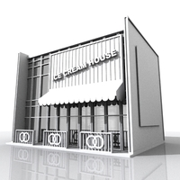 Comtemporary Shop Building 3D Model