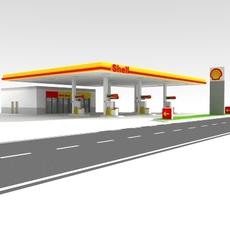 Petrol Station 3D Model