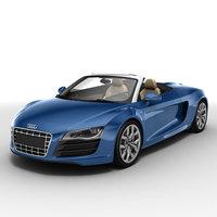 Audi R8 Spyder 2010 3D Model
