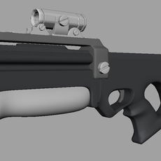 Needle rifle 3D Model