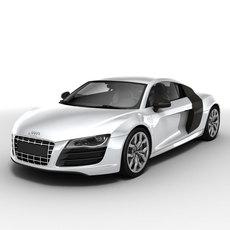 Audi R8 V10 2010 3D Model