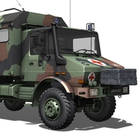 Mercedes Benz Unimog U1300L - Ambulance 3D Model