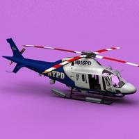 AW-119 Koala NYPD 3D Model