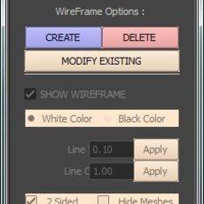 Deo's WireFrame Shader for Maya 1.0.6 (maya script)