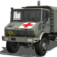 Mercedes Benz - Unimog - Belgian Ambulance 3D Model
