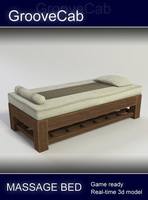 Massage Bed - low poly 3D Model