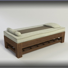 Massage Bed - low poly 3D Model