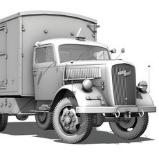 Opel Blitz Einheitskoffer 3D Model