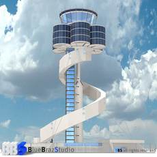 Sydney airport control tower 3D Model