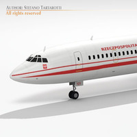 Tu-154M Polish Air Force 3D Model