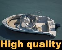 Robalo Motorboat 3D Model