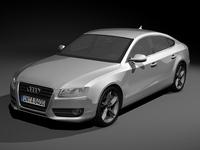 2010 Audi A5 Sportback 3D Model