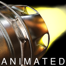 Animated Rocket Exhaust Trail (dynamics) 3D Model