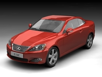 2009 Lexus IS250C Coupe Convertible 3D Model
