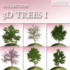 tree collection 01 3D Model