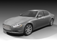 2009 Maserati Quattroporte 3D Model